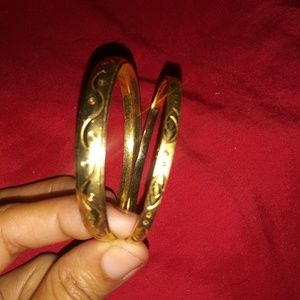 """2"" Gold Filled Girl Bracelets"